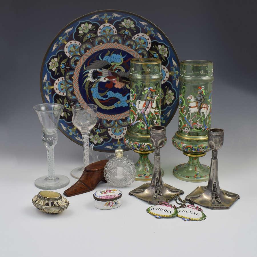 Glass, Cloisonne, Enamel, Metals & Other Media