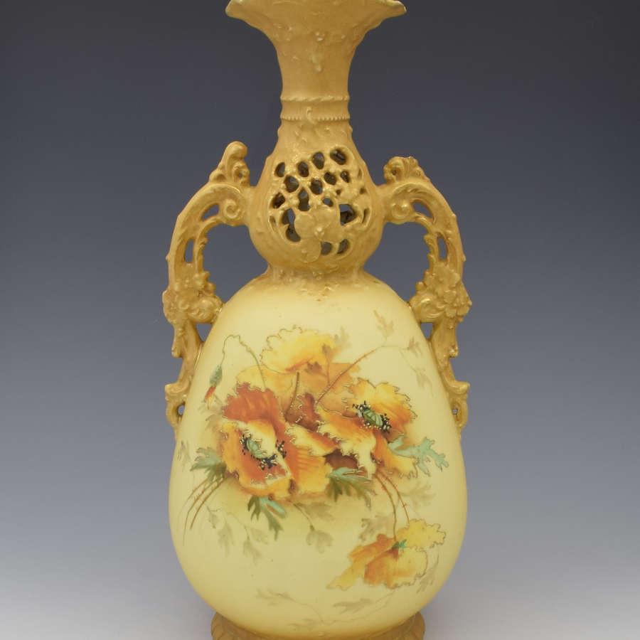 Large Art Nouveau Ernst Wahliss Blush Porcelain Vase