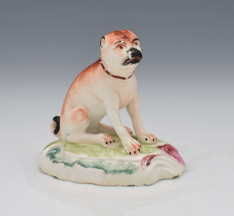 18th Century Duesbury Derby Porcelain Pug Figure N2 c.1770