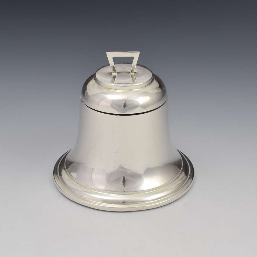 Art Deco Silver Novelty Bell Shaped Inkwell A & J Zimmerman 1927