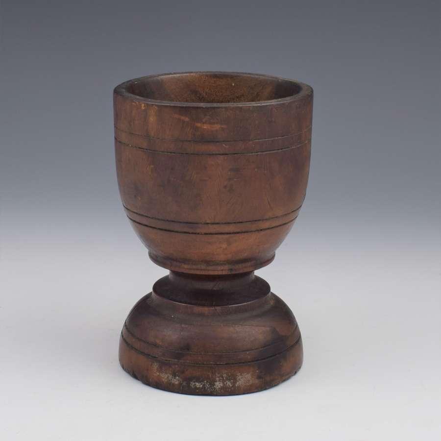 18th Century Lignum Vitae Goblet Shape Mortar