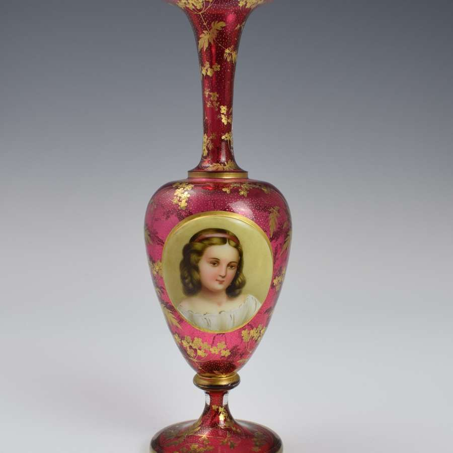 Victorian Bohemian Cranberry Glass 10