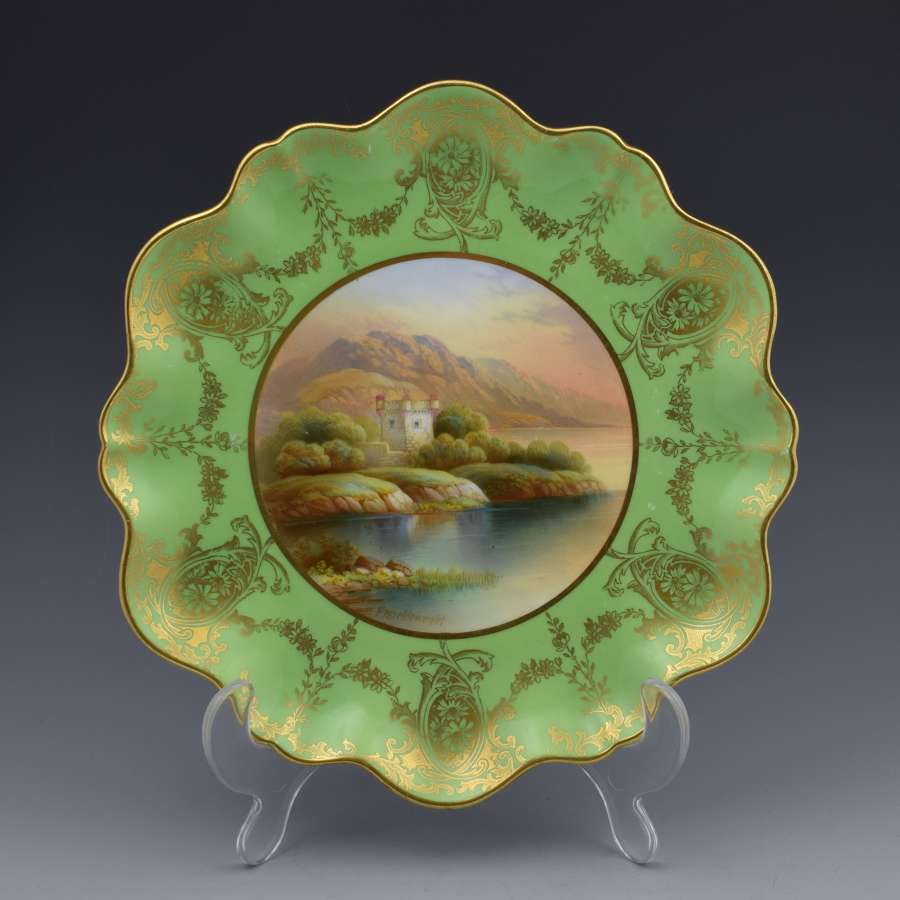 Aynsley Cabinet Plate Loch Leven Castle Frederick c.1910