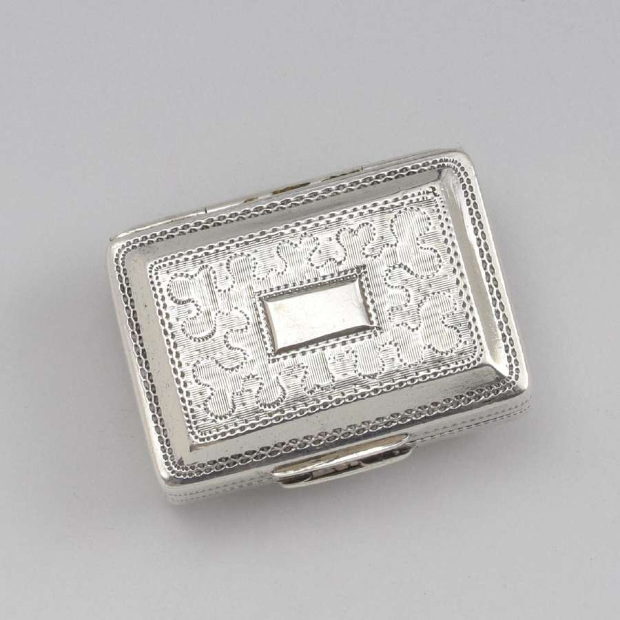 George VI Silver Vinaigrette John Bettridge 1821