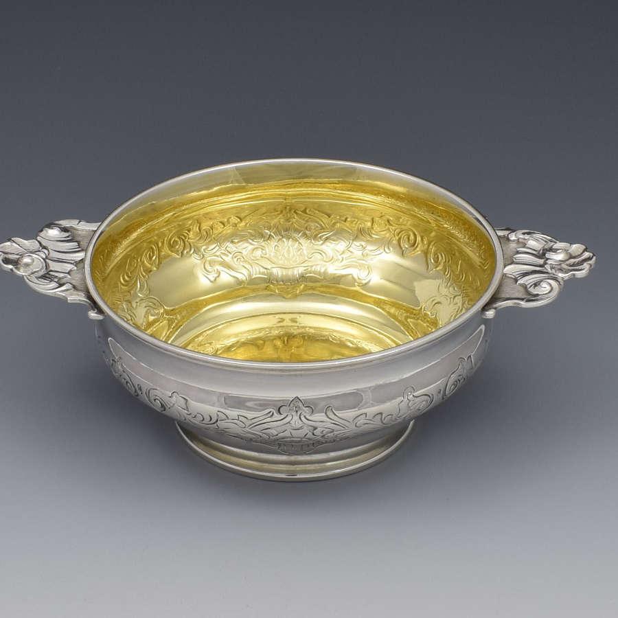 Art Nouveau Danish Silver Quaich Anton Michelsen