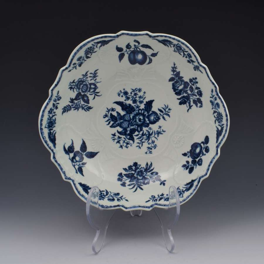 First Period Worcester Porcelain Pine Cone Junket Bowl