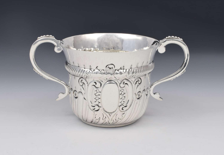 Edwardian Britannia Standard Silver Porringer Maurice Freeman