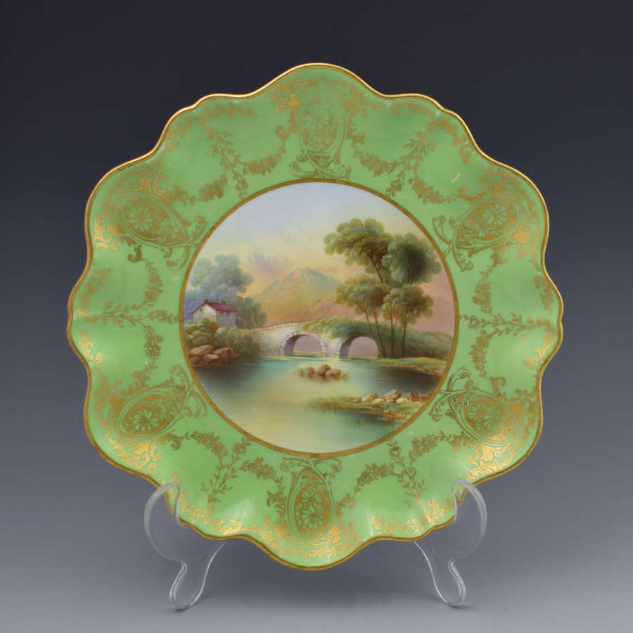 Aynsley Cabinet Dessert PLATE F. Micklewright Beddgelert