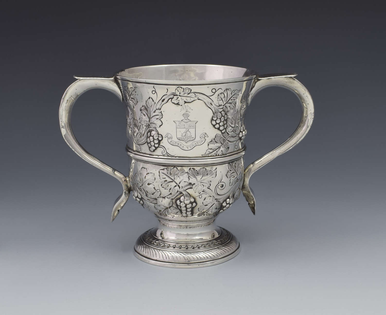 George II Silver Twin Handled Loving Cup Benjamin Cartwright I