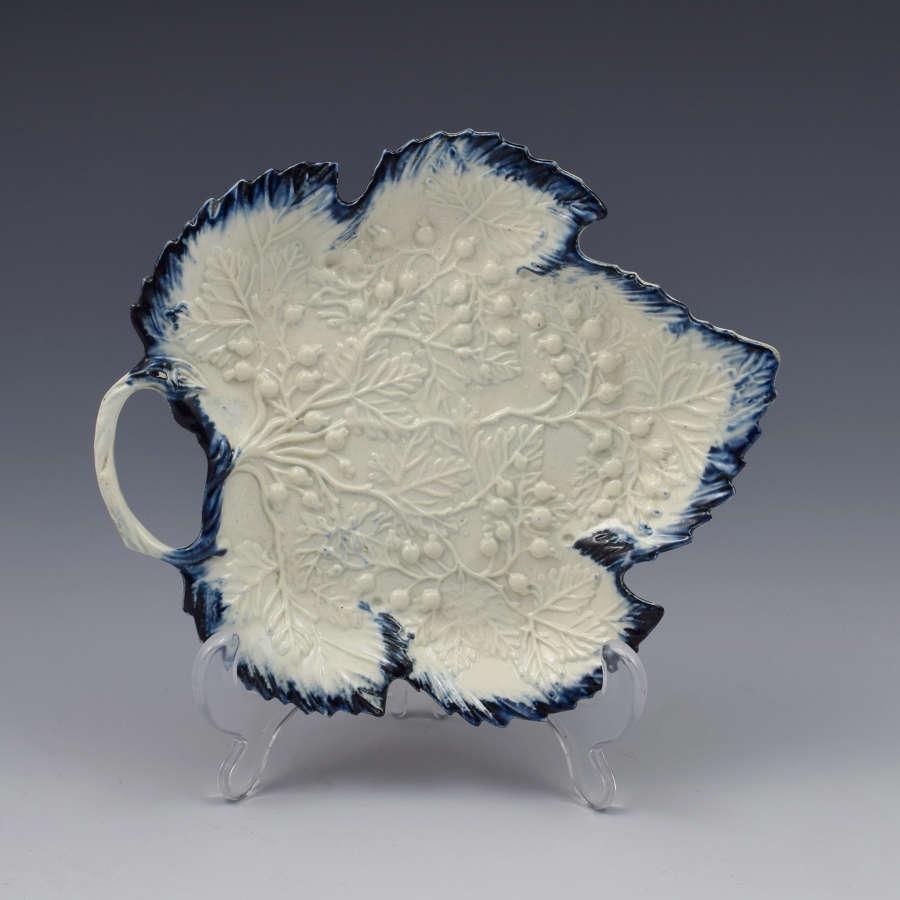 Fine Georgian Pearlware Leaf Shape Leeds Style Pickle Dish C.1790