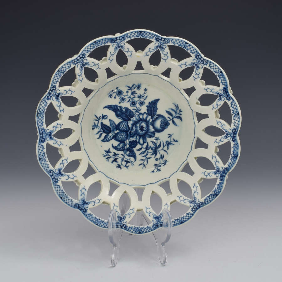 First Period Worcester Reticulated Basket Pine Cone Pattern c.1775