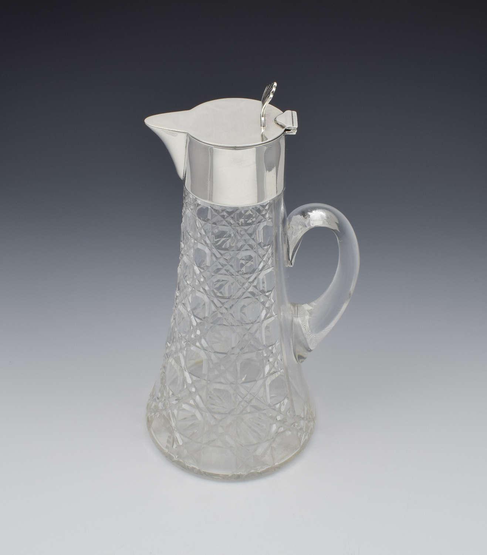 Art Deco Silver & Cut Glass Claret Jug