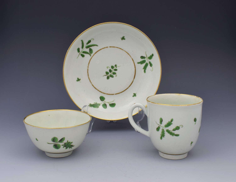 First Period Worcester Camieau Vert Green Trio Cup & Saucer