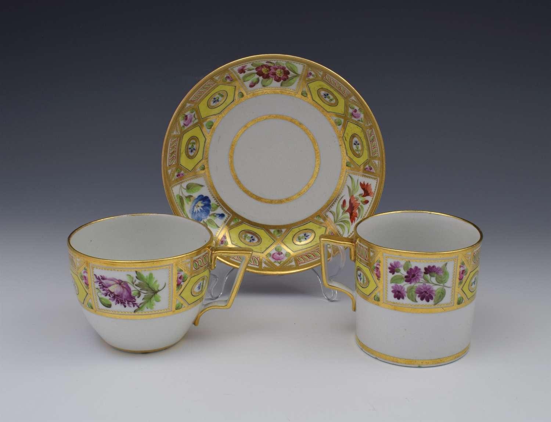 Regency Coalport Porcelain Church Gresley Pattern Trio Cup & Saucer