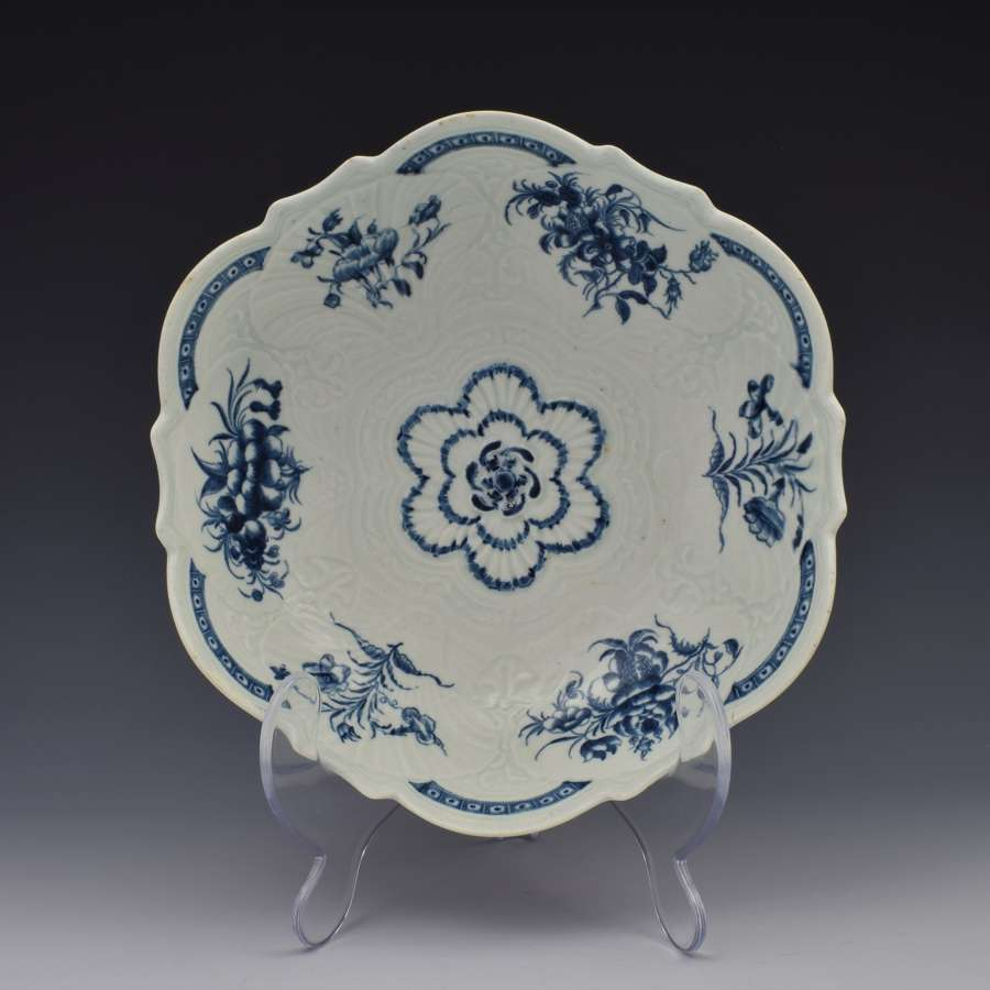 First Period Worcester Porcelain Blue & White Junket c.1770