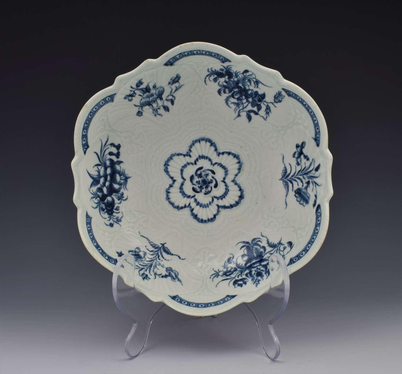 First Period Worcester Porcelain Blue & White Junket c.1770