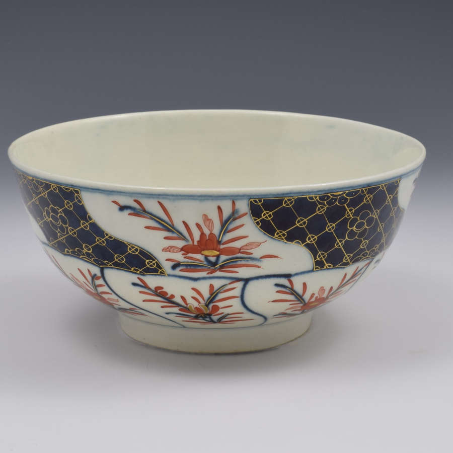 First Period Worcester Porcelain Imari Slop Bowl c.1775