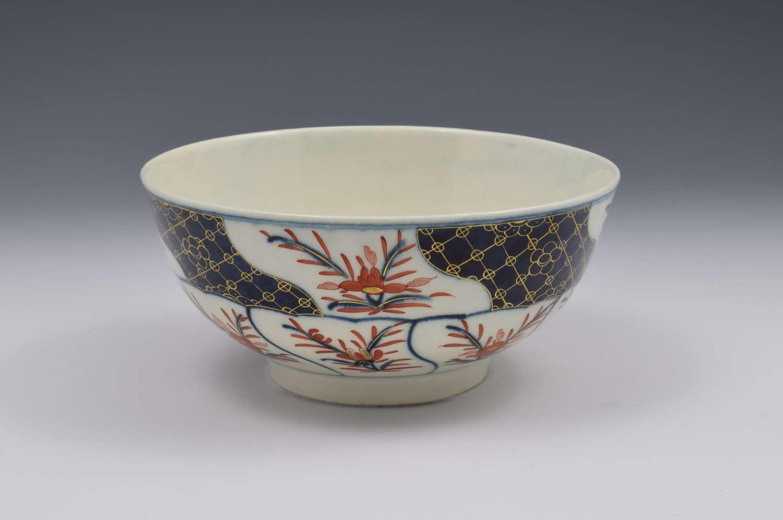 First Period Worcester Porcelain Imari Slop Bowl c.1775