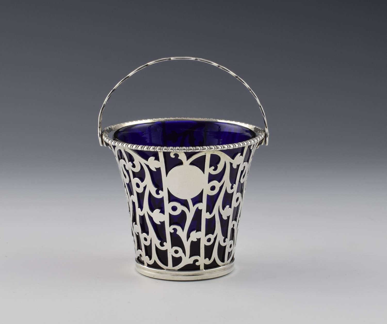 Early George III Pierced Openwork Silver Cream Pail