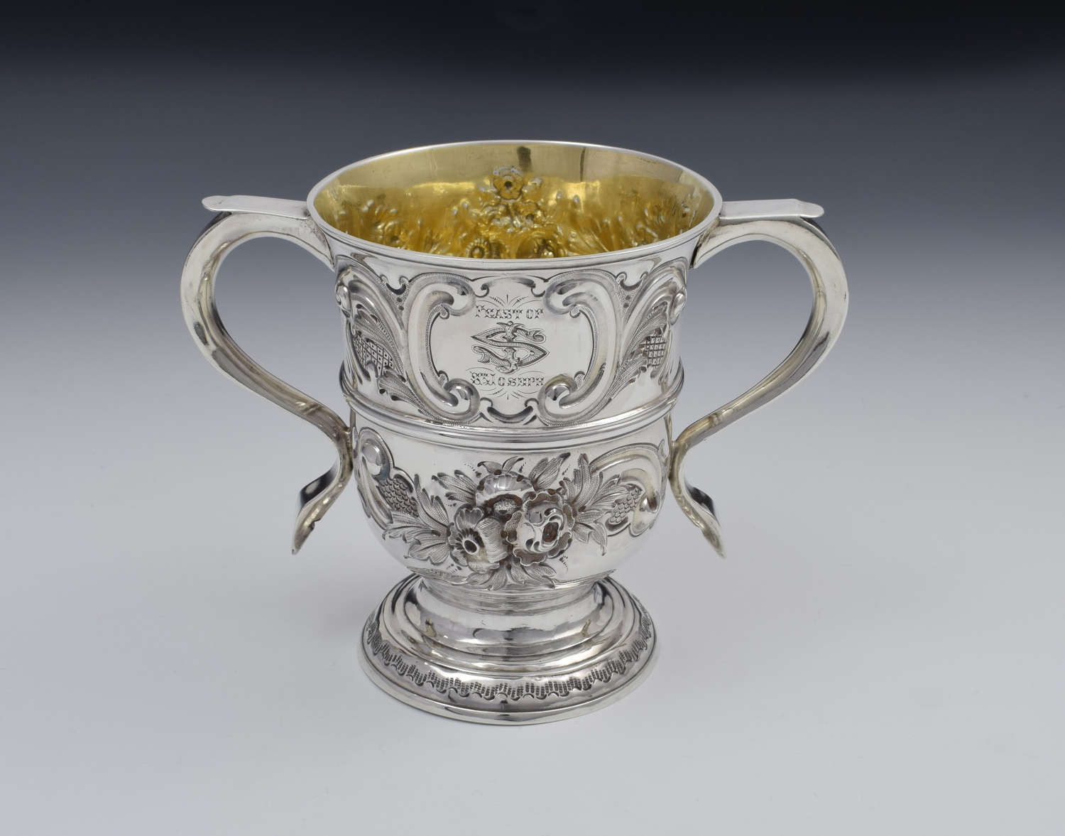 George II Silver Twin Handled Loving Cup