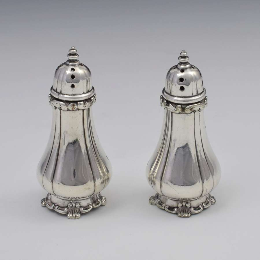 Pair Victorian Tiffany & Co. Soldered Silver (Plated) Pepperettes