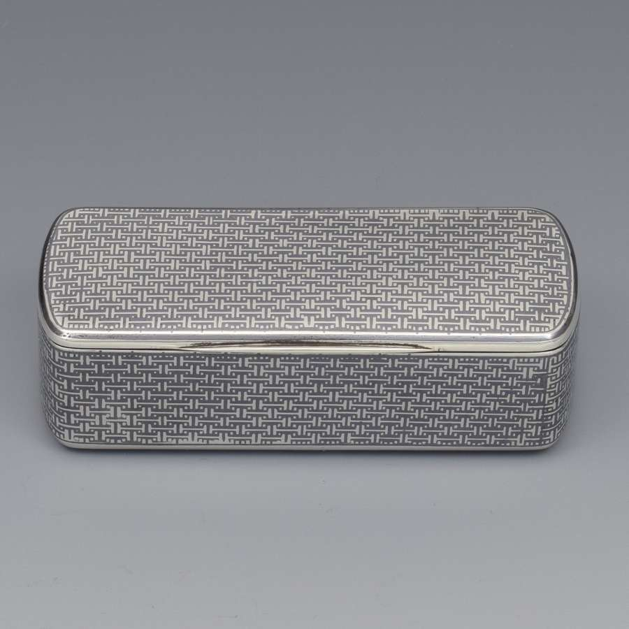 Fine French Silver & Niello Snuff Box, c.1870