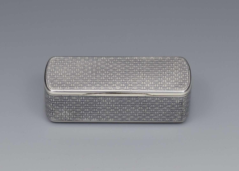 Fine French Silver & Niello Snuff Box, c.1870