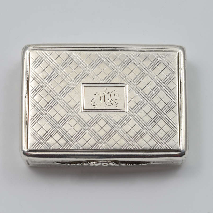 William IV Silver Vinaigrette Nathaniel Mills 1837