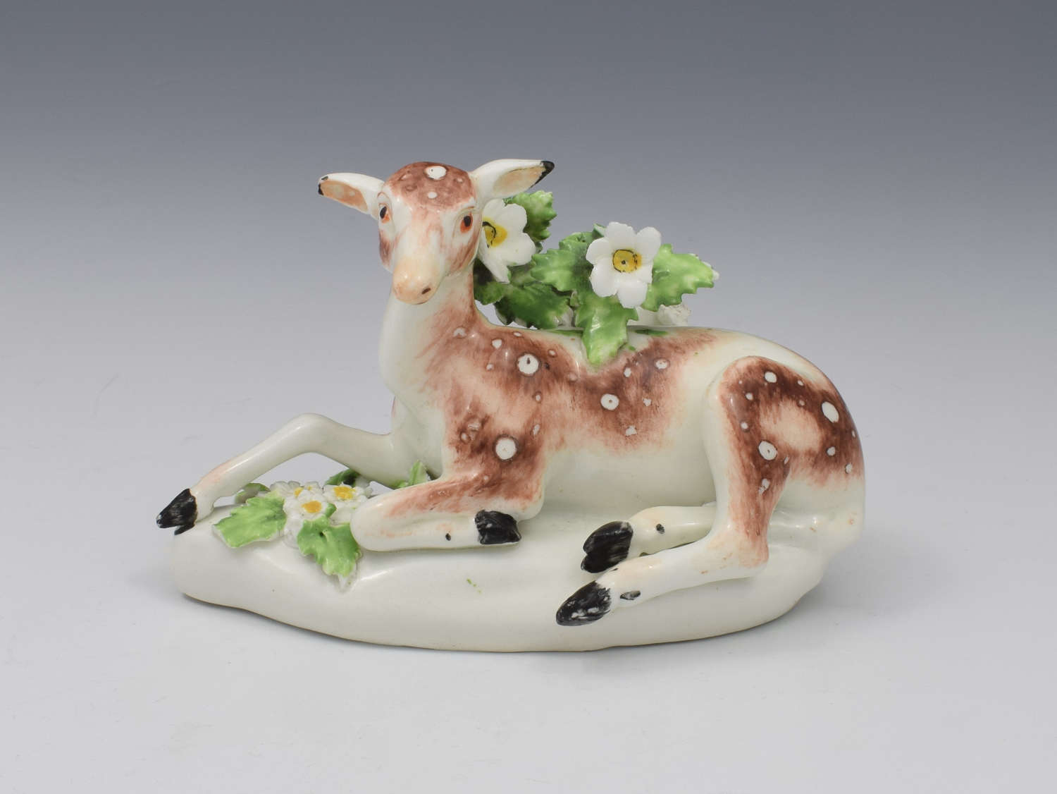 Derby Porcelain Figure Recumbent Doe Deer C.1765