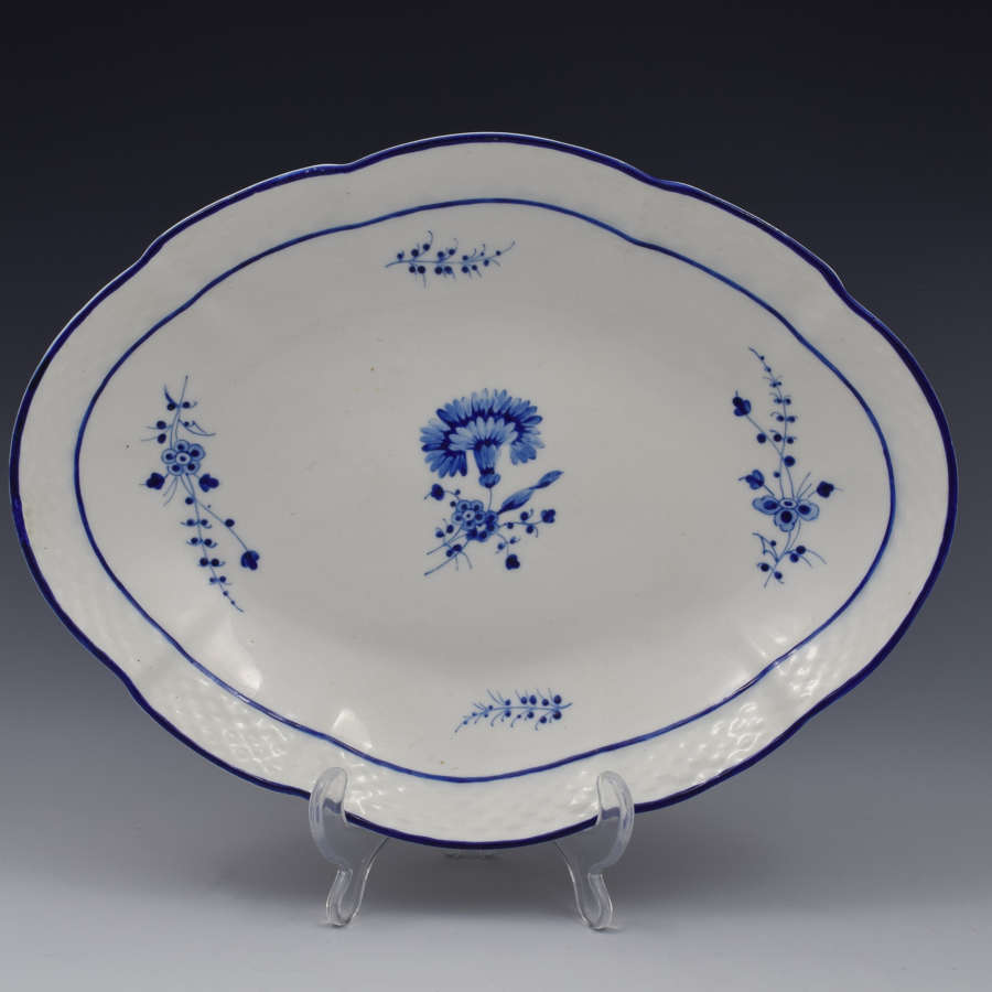 Chelsea Derby Porcelain Dish Gilliflower / Chantilly Sprigs Pattern