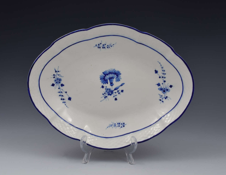 Chelsea Derby Porcelain Dish Gilliflower / Chantilly Sprigs Pattern