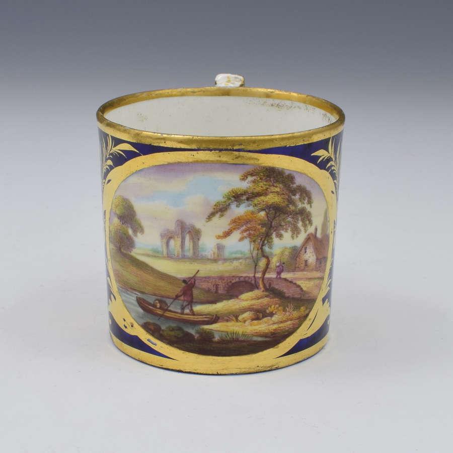 Derby Porcelain Coffee Can Landscape Scene Abergeldie Scotland