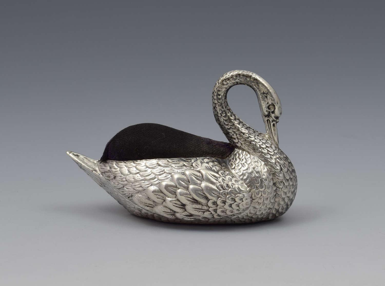 Sterling Silver Novelty Swan Pin Cushion Adie & Lovekin