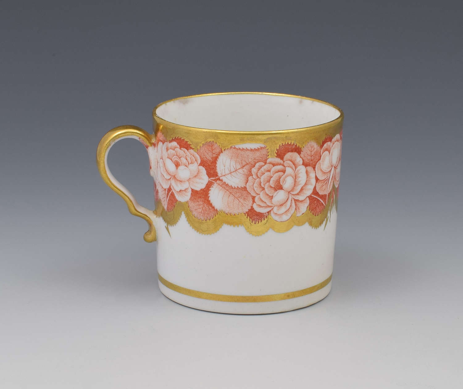 Spode Pluck & Dust Printed Coffee Can Orange Roses 984