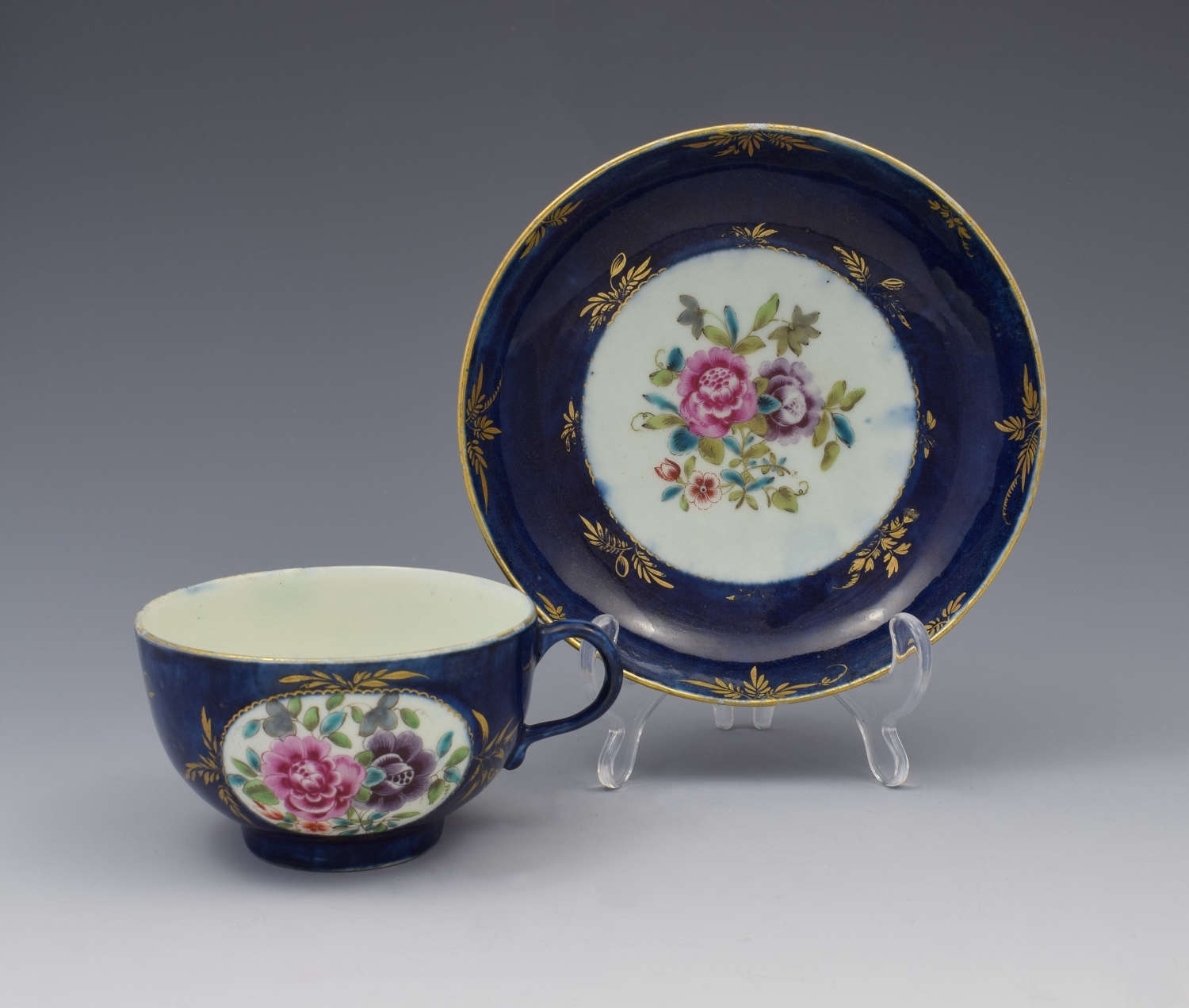 First Period Worcester Compagnie Des Indes Cup & Saucer