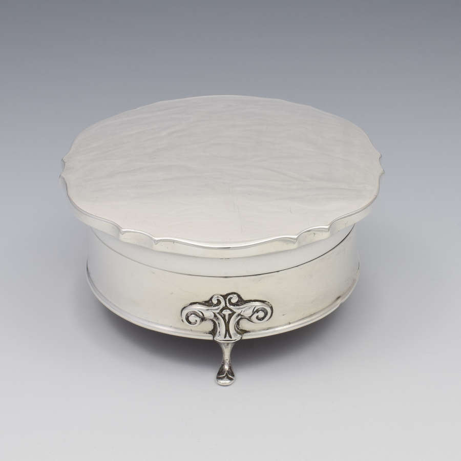 Art Nouveau Silver Jewellery Casket / Dressing Table Box