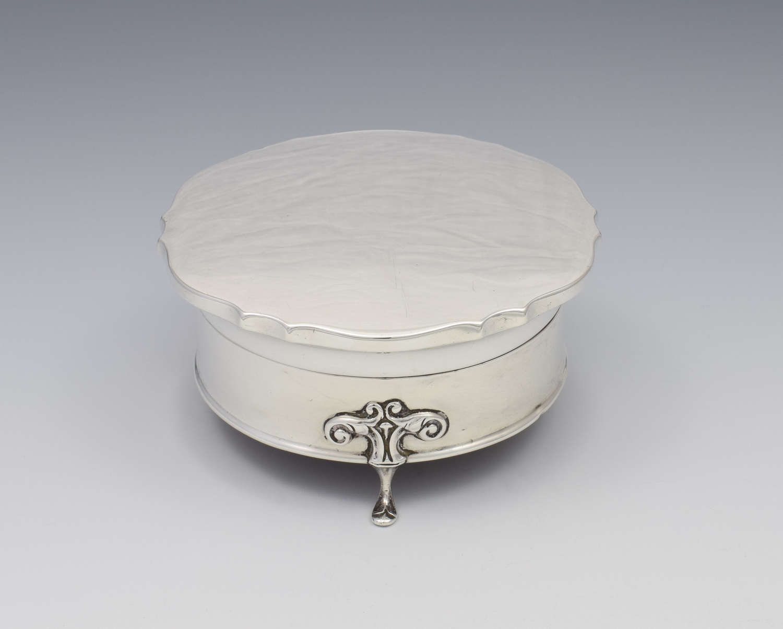 Art Nouveau Silver Jewellery Casket / Dressing Table Box