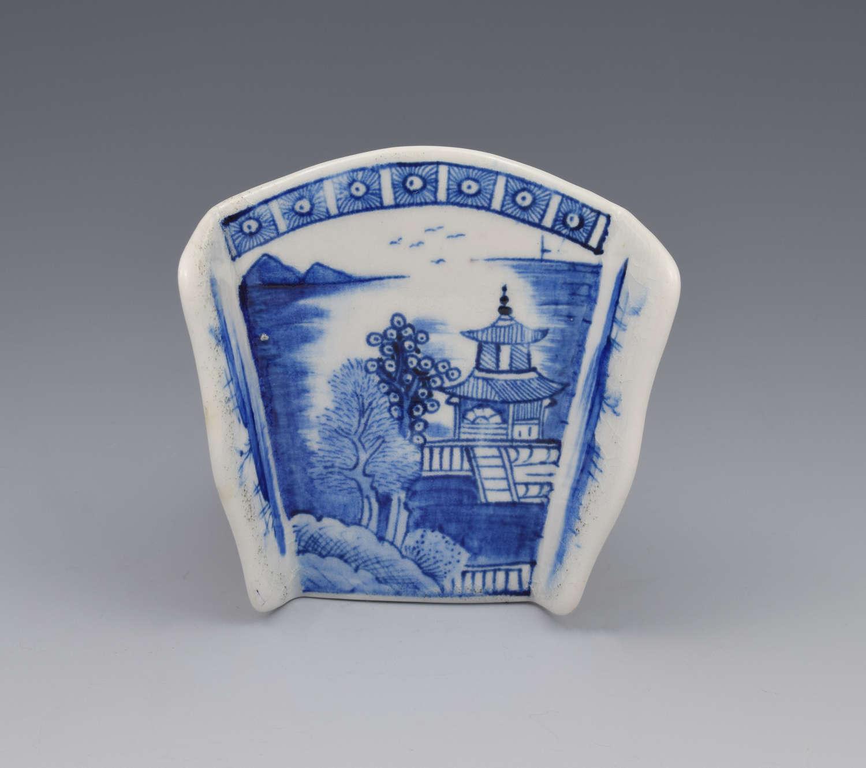 18th Century Derby Porcelain Blue & White Asparagus Server c.1775
