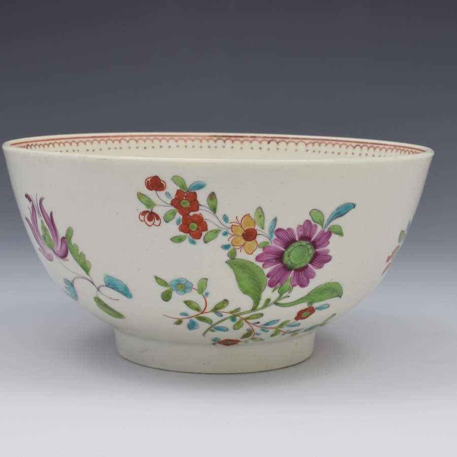 First Period Worcester Kakiemon Palette Slop Bowl