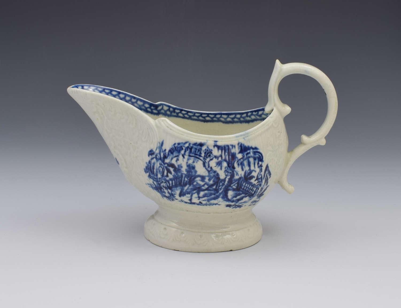 Liverpool Porcelain John & Jane Pennington Sauceboat Large Exotic Bird