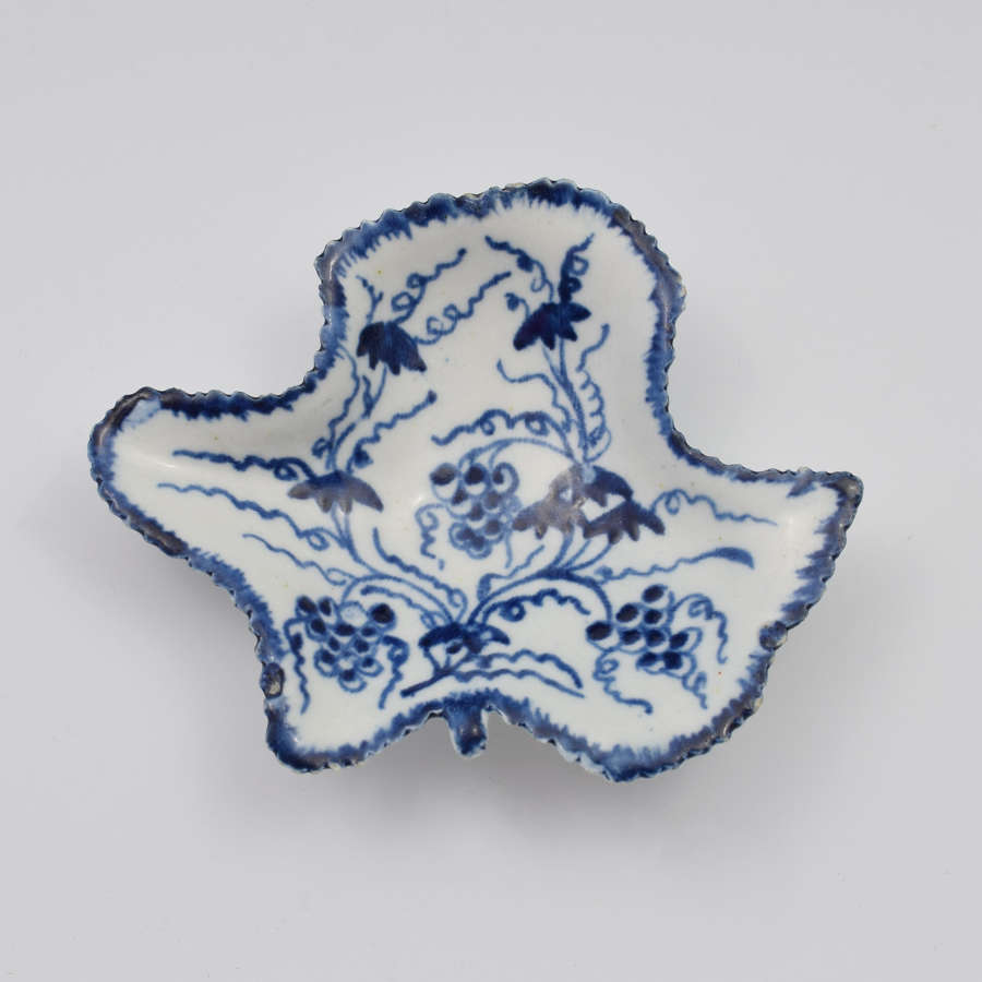 Bow Porcelain Fruiting Vine Pickle Dish c.1760