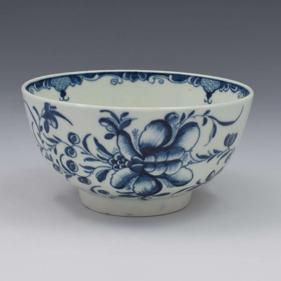 First Period Worcester Mansfield Pattern Slop Bowl c.1775