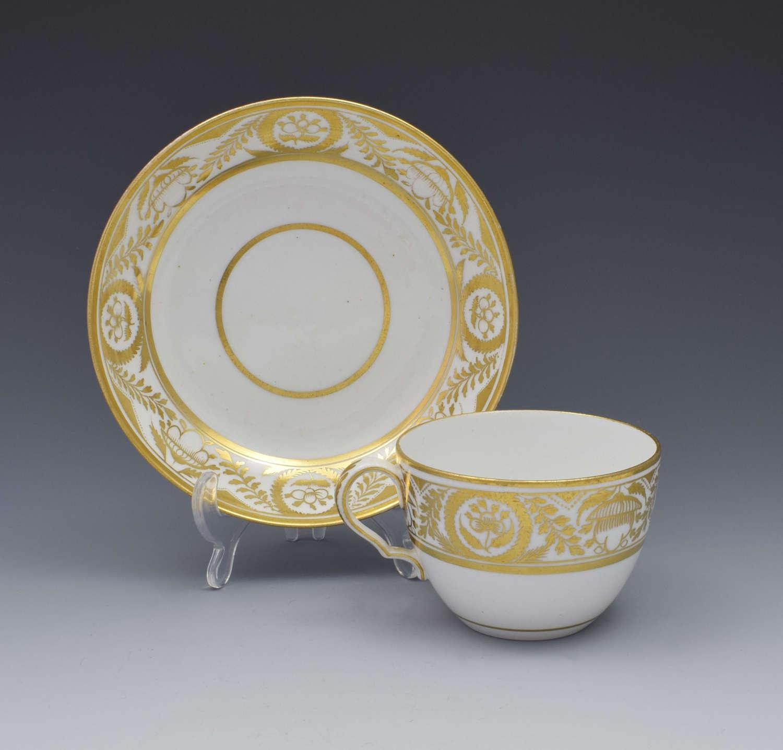 Spode Porcelain Bute Tea Cup & Saucer Gilded Pattern 471 c.1805-1810