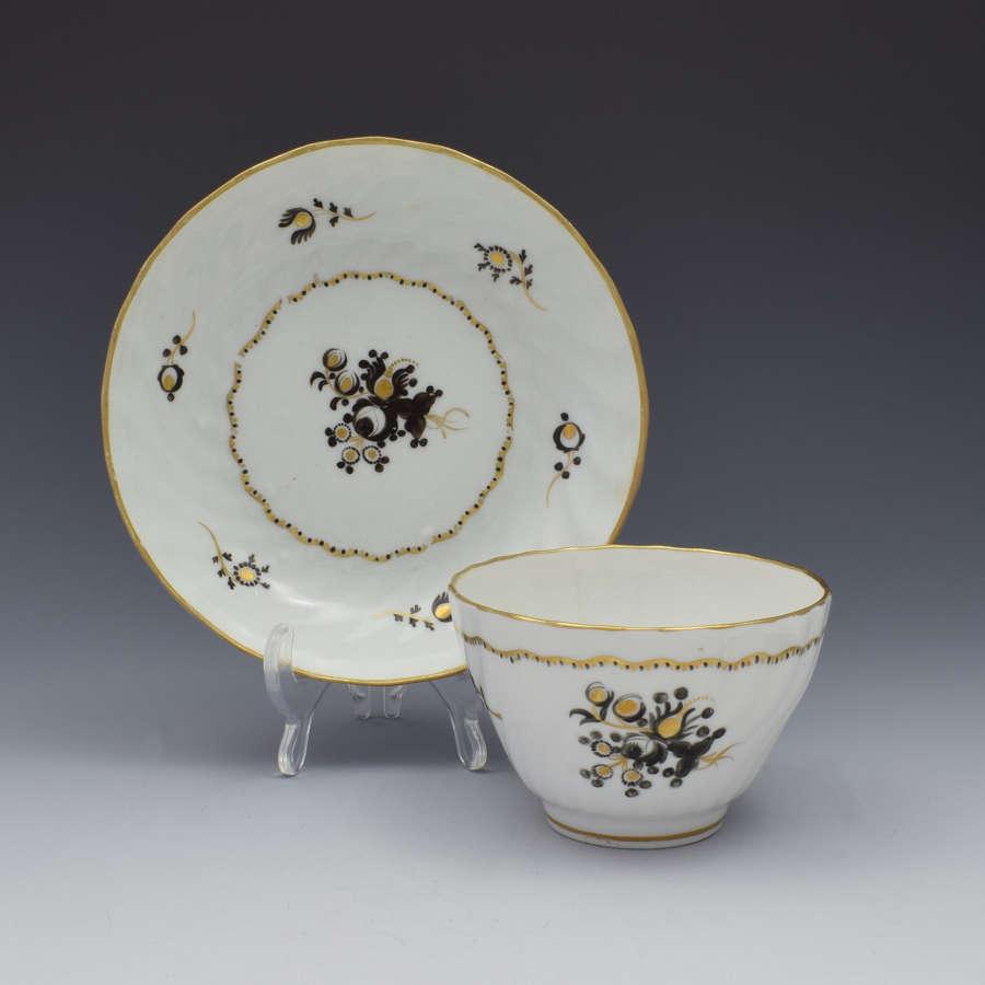 Chamberlain Shanked Tea Bowl & Saucer c.1800