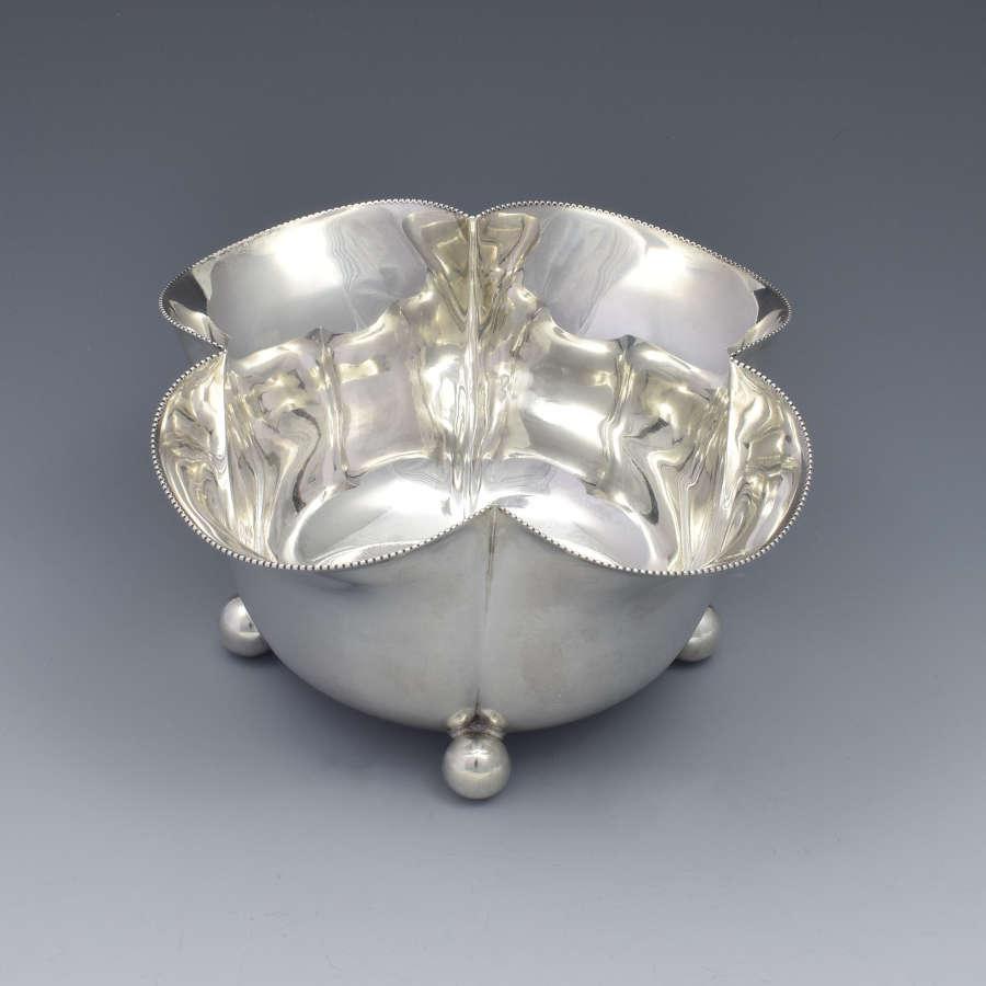 Victorian Silver Quatrefoil Lobed Bowl Sweetmeat Dish