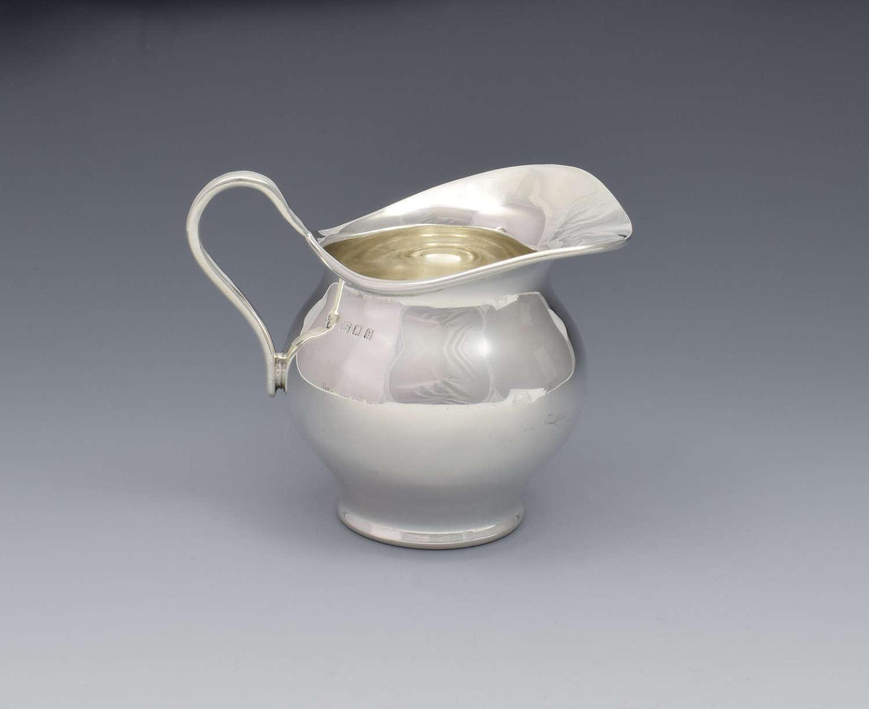 Stylish George V Silver Cream Jug Boyton & Sons
