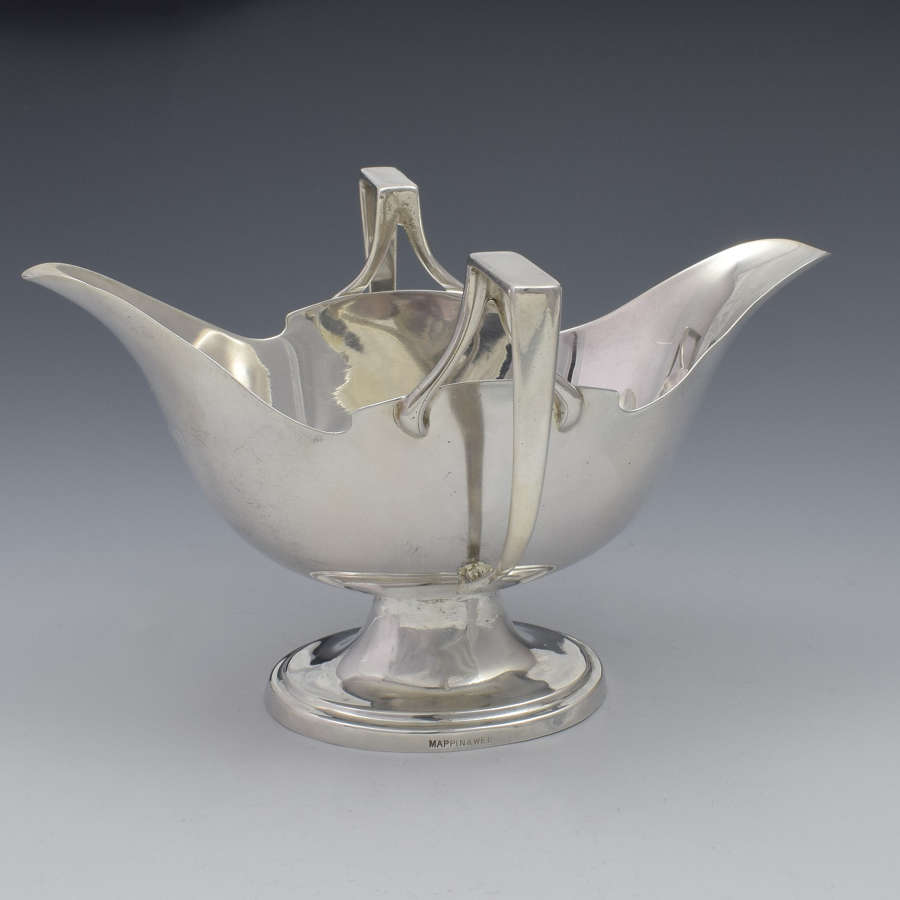 Edwardian Silver Double Lipped Sauceboat Mappin & Webb