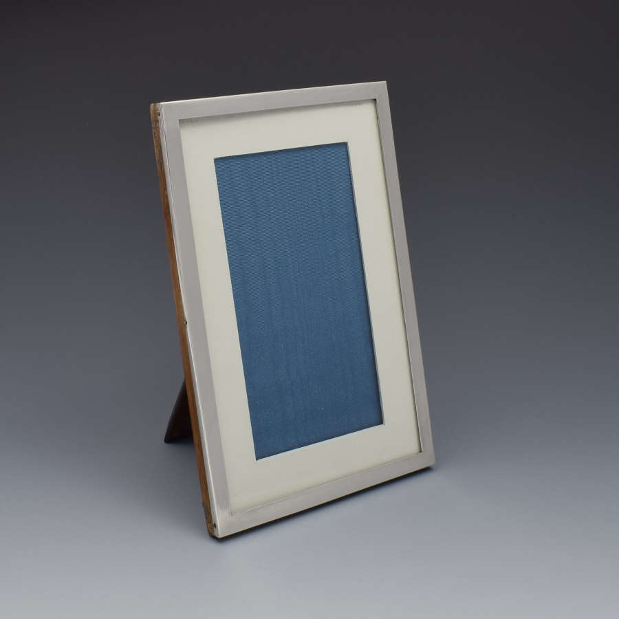 George V Plain Silver Easel Back Photograph Frame 1913