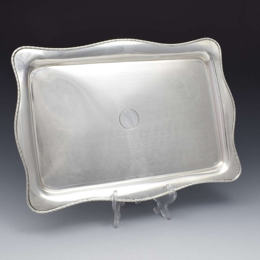 Large Art Deco Silver Dressing Table / Desk Tray