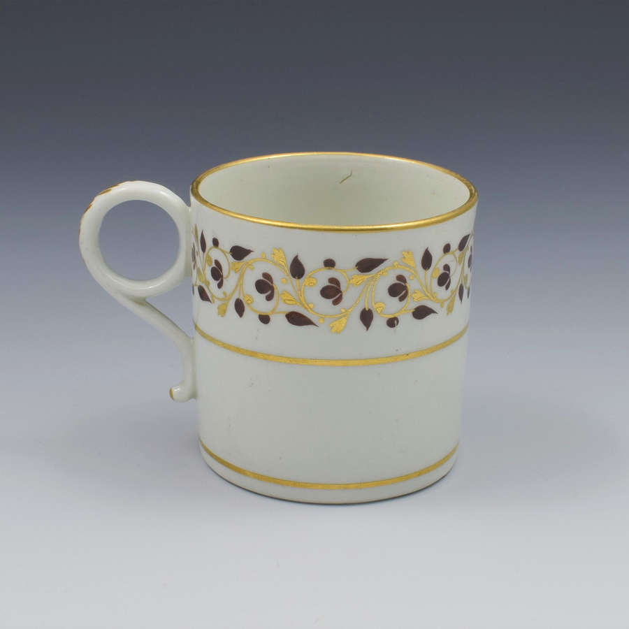 Worcester Barr Period Porcelain Coffee Can c.1800